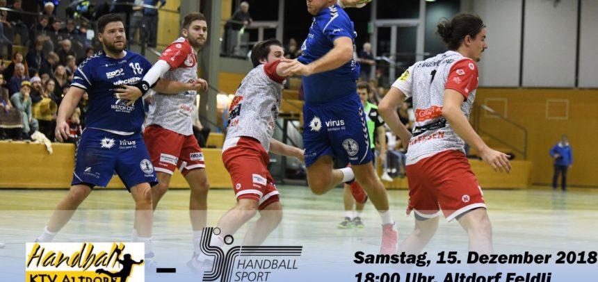 Matchvorschau: HC KTV Altdorf – HS Biel