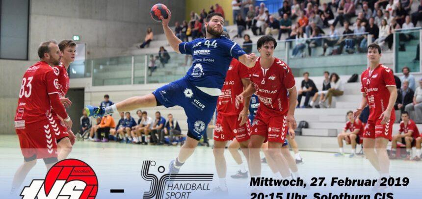 Matchvorschau: SG TV Solothurn – HS Biel