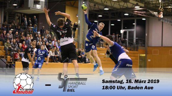 Matchvorschau: STV Baden – HS Biel